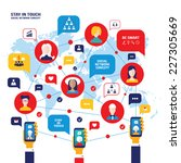social network concept. people... | Shutterstock .eps vector #227305669