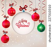 christmas background with blank ... | Shutterstock .eps vector #227310310