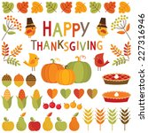 set of cute  colorful design... | Shutterstock .eps vector #227316946