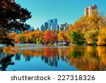 central park autumn and... | Shutterstock . vector #227318326