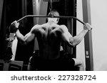 very power athletic guy  ... | Shutterstock . vector #227328724