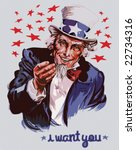 Smiling Uncle Sam  Removable...