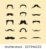 mustache icons isolated set | Shutterstock .eps vector #227346223