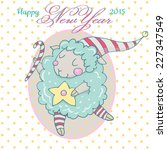 Cute Cartoon Sheep In Vector....