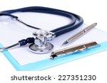 stethoscope isolated on white | Shutterstock . vector #227351230