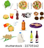 food collection set | Shutterstock .eps vector #22735162