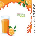 glass of orange juice with... | Shutterstock .eps vector #227355340