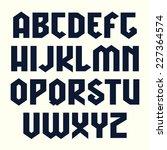 sanserif line geometric font in ... | Shutterstock .eps vector #227364574