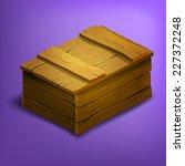 wooden box. vector illustration.