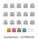 multimedia icons    outline... | Shutterstock .eps vector #227383153