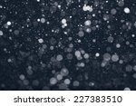 Snow Falling From Night Sky ...