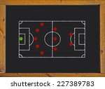 football field with 5 3 2... | Shutterstock . vector #227389783