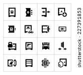 set icons of safe isolated on... | Shutterstock .eps vector #227391853