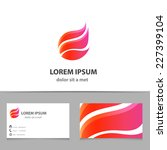 vector pink shape logo with... | Shutterstock .eps vector #227399104