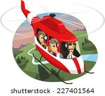 helicopter tour air travel ... | Shutterstock .eps vector #227401564
