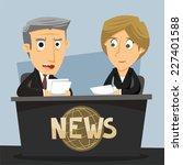 news anchor journalist... | Shutterstock .eps vector #227401588