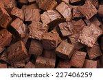 delicious brownies background | Shutterstock . vector #227406259