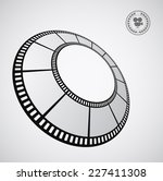 film strip round   abstract... | Shutterstock . vector #227411308