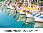 colorful sailing boats at...   Shutterstock . vector #227424694