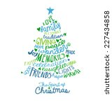 Christmas Card Word Cloud Tree...