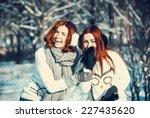 young beautiful girls friends... | Shutterstock . vector #227435620