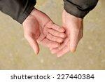 old work roughened hands   Shutterstock . vector #227440384