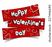 happy valentine's day greeting... | Shutterstock .eps vector #227446690
