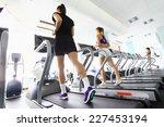 group of women doing cardio... | Shutterstock . vector #227453194