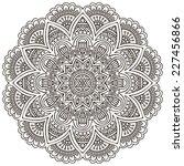 mandala. round ornament pattern.... | Shutterstock . vector #227456866