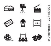 cinema and movie icon set... | Shutterstock .eps vector #227457076
