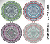 mandala. round ornament pattern.... | Shutterstock . vector #227457286