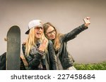 ������, ������: Hipster girlfriends taking a