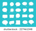 set of blank empty speech... | Shutterstock .eps vector #227461348