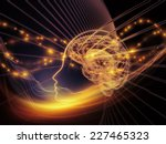 Stock photo human mind series artistic background made of brain human outlines and fractal elements for use 227465323