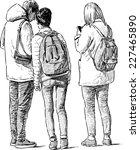 students | Shutterstock .eps vector #227465890