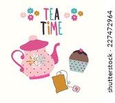 tea time  set   vector...   Shutterstock .eps vector #227472964