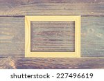 photo frame on wooden... | Shutterstock . vector #227496619