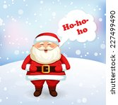santa claus laughing. christmas ... | Shutterstock .eps vector #227499490