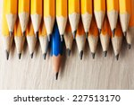 individuality concept. pencils... | Shutterstock . vector #227513170