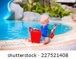 Funny Little Baby Boy In Sun...
