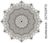 mandala. round ornament pattern.... | Shutterstock . vector #227523973
