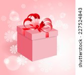 gift with red bow on background ... | Shutterstock . vector #227524843