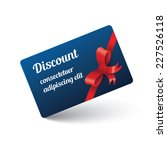discount card with ribbon   Shutterstock .eps vector #227526118