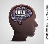 head with gears in brain.... | Shutterstock .eps vector #227526208