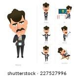 businessman corporate life flat ...   Shutterstock .eps vector #227527996