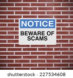 a modified notice sign warning... | Shutterstock . vector #227534608