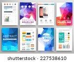set of flyer  brochure design... | Shutterstock .eps vector #227538610