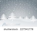 christmas greeting card and... | Shutterstock .eps vector #227541778