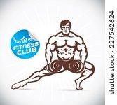 bodybuilder fitness model...   Shutterstock .eps vector #227542624