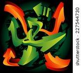 graffiti design template  arrows | Shutterstock .eps vector #227544730